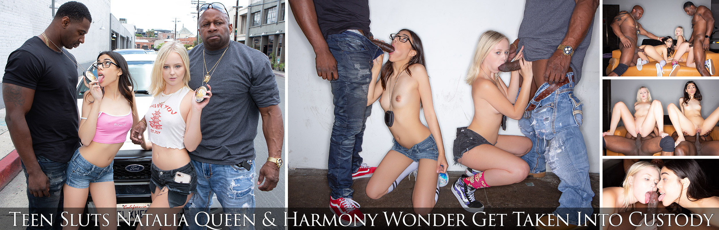 Teen Sluts Natalia Queen & Harmony Wonder Get Taken Into Custody