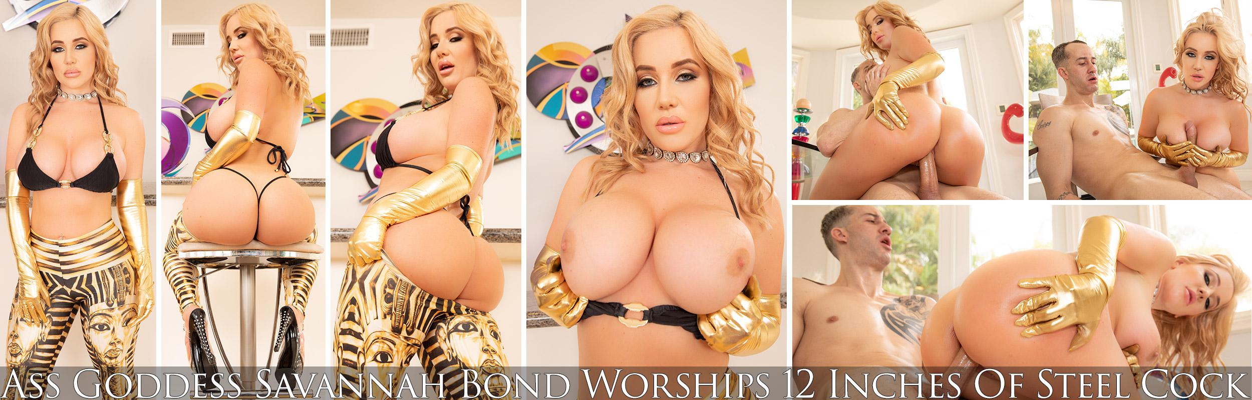 Ass Goddess Savannah Bond Worships 12 Inches Of Steel Cock