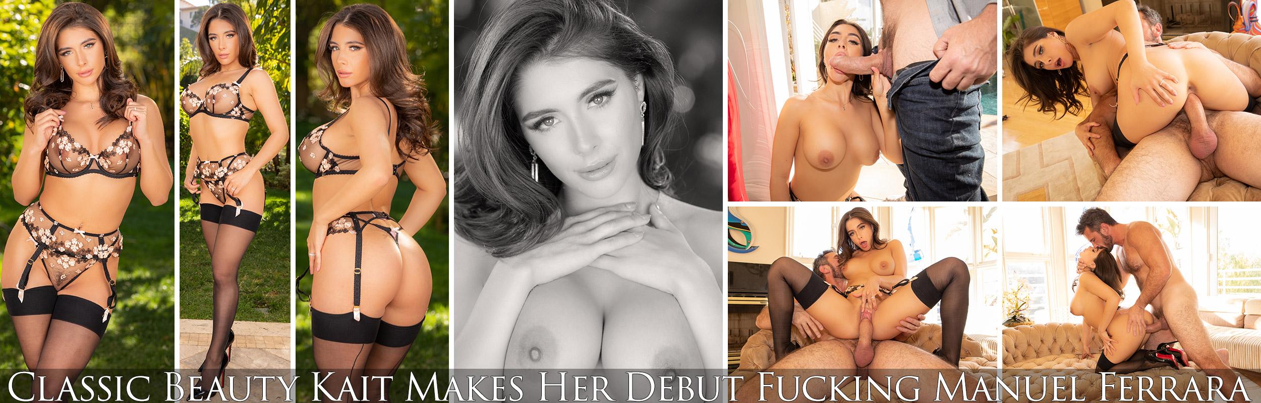 Classic Beauty Kait Makes Her Debut Fucking Manuel Ferrara