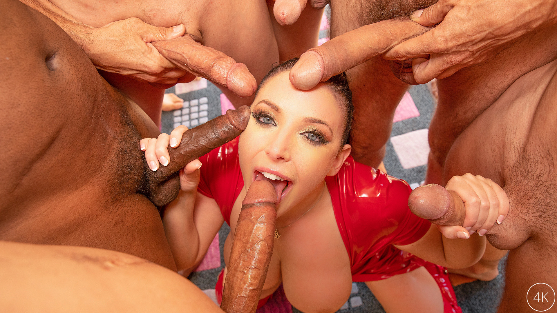 JulesJordan.com - Swarmed By 13 Guys Angela White Does Her Biggest Blowbang Ever
