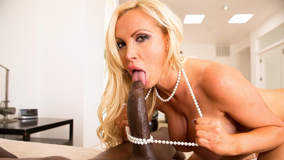 Blonde black cock perfect