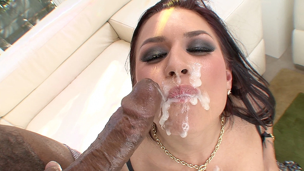 Download JulesJordan.com - Eva Angelina Gets A Black Cock In The Ass And A Brother Load Cum Mask