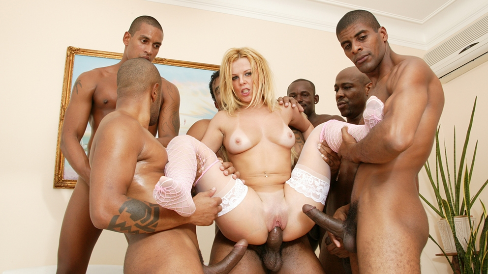 Download JulesJordan.com - Nicole Gaucha Gangbanged By 5 Big Black Cocks