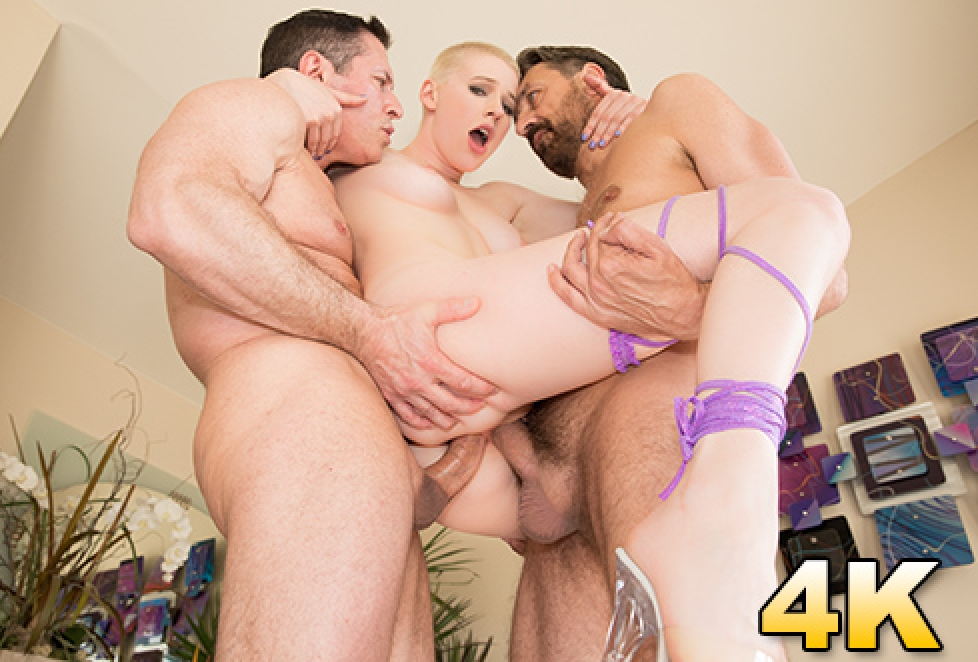 Riley Nixon Is Double Teamed & Double Stuffed For Her FIRST DP · Riley  Nixon, Steve Holmes, John Strong