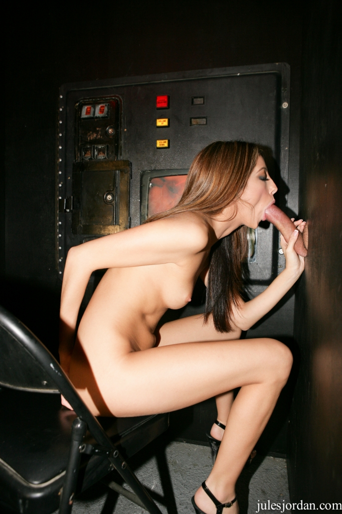 Sex booth glory hole