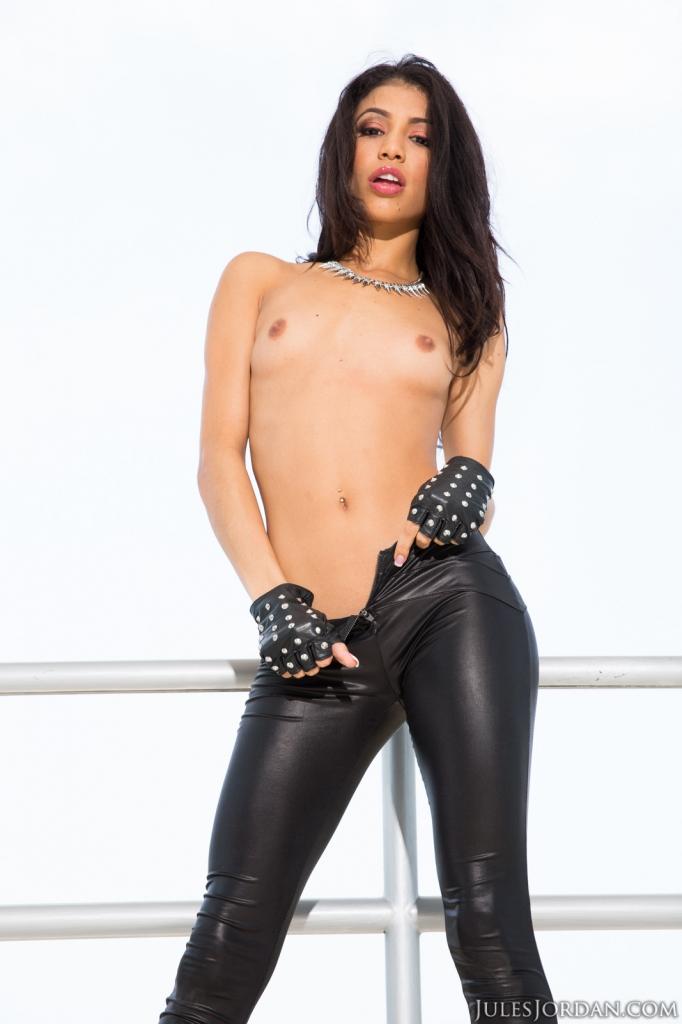Hot Latina Riding Dildo