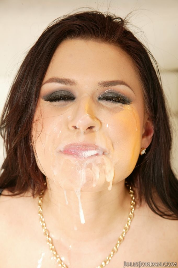 Eva angelina cum on face