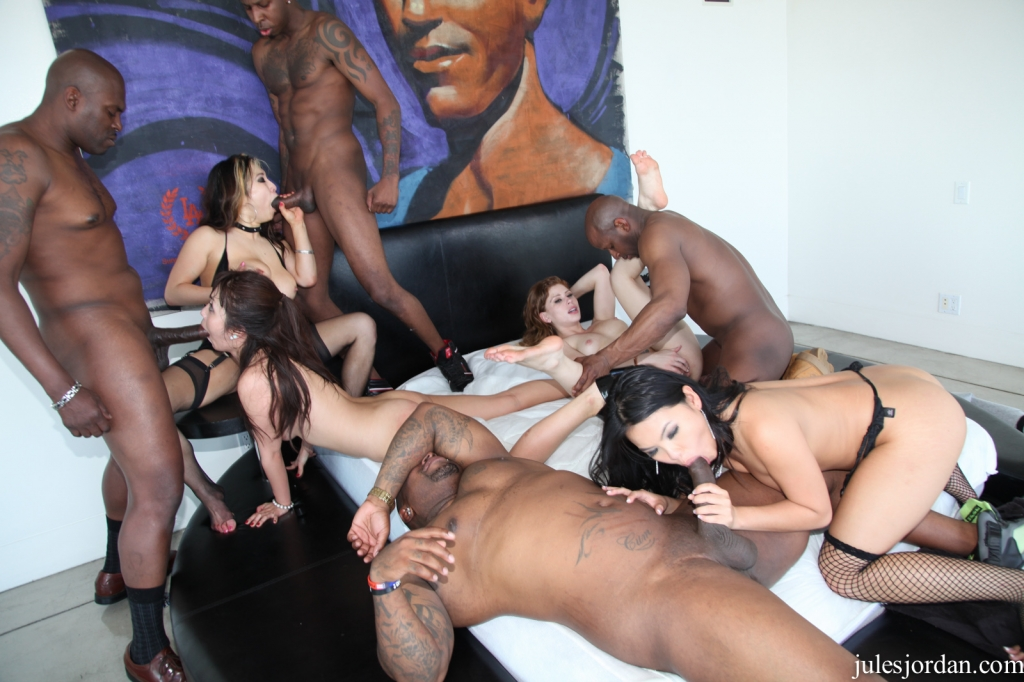Free interracial orgy video clip, beautiful and amazing american xxx