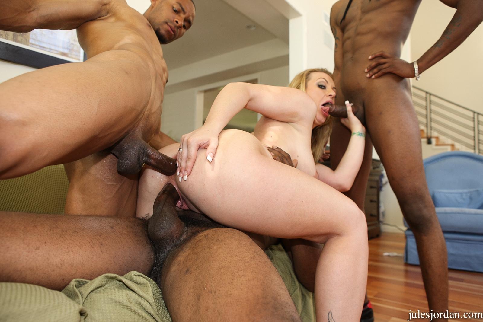 Kinky woman interracial dp action by huge black boners